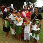 Hawaii's Daughters Guild Booth at 2014 Alondra Park Ho'olaule'a. Photo credit: Alice Alefosio