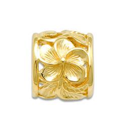 Gold Hawaiian Scroll Pendant by Maui Divers Jewelry