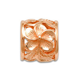Rose Gold Hawaiian Scroll Pendant from Maui Divers Jewelry