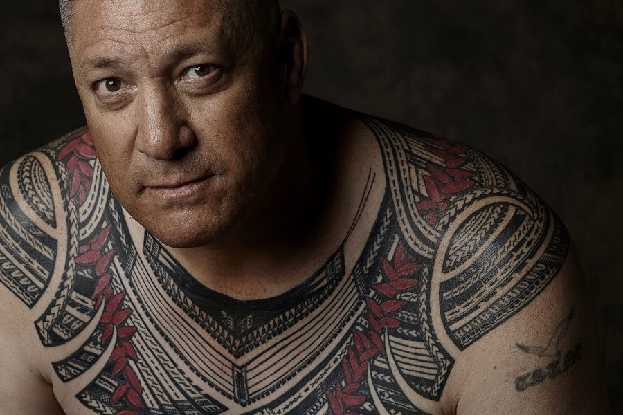 Tatau: Marks of Polynesia. Tattoo by Sulu'ape Si'i Liufau. Photo by John Agcaoili. at Japanese American National Museum