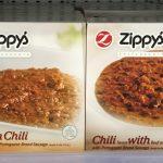 Zippy's Frozen No Bean Chili, Zippy's Frozen Chili with Beans